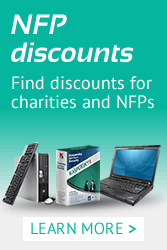 Find discounted products for not-for-profits and charities